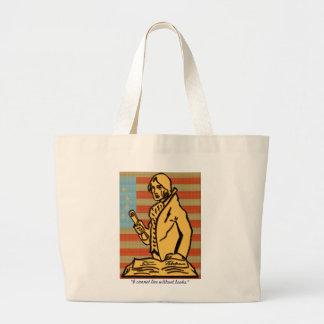 Thomas Jefferson Colonial Flag Tote Bags