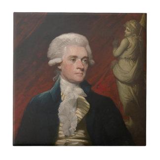 Thomas Jefferson de Mather Brown (1786) Azulejo Cuadrado Pequeño