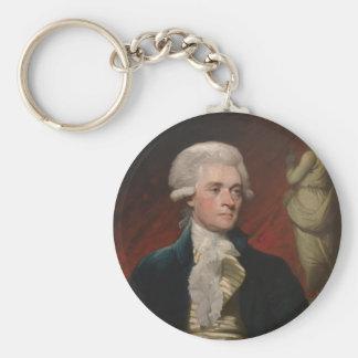 Thomas Jefferson de Mather Brown (1786) Llavero Redondo Tipo Pin