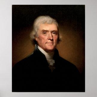 Thomas Jefferson de Rembrandt Peale Póster