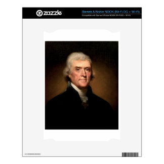 Thomas Jefferson Decal For The NOOK