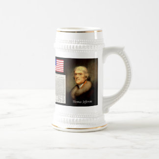 Thomas Jefferson & Declaration Of Independence Beer Stein