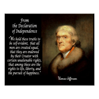 Thomas Jefferson & Declaration Of Independence Posters