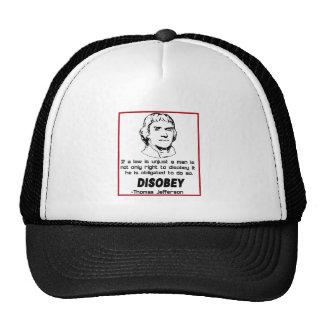 Thomas Jefferson  DISOBEY Trucker Hat