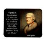 Thomas Jefferson en felicidad Imanes