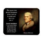 Thomas Jefferson en la 2da enmienda Imán Flexible