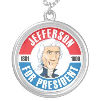 Thomas Jefferson For President Necklace