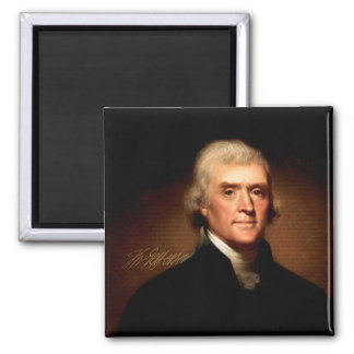 Thomas Jefferson, Founding Father 2 Inch Square Magnet