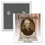 Thomas Jefferson – Freedom 2 Inch Square Button
