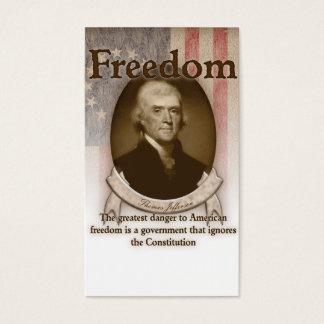 Thomas Jefferson – Freedom Business Card