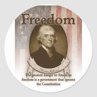Thomas Jefferson – Freedom Classic Round Sticker