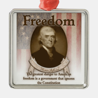 Thomas Jefferson – Freedom Metal Ornament