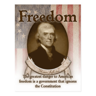 Thomas Jefferson – Freedom Postcard