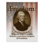 Thomas Jefferson – Freedom Poster
