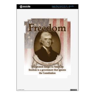 Thomas Jefferson – Freedom Decal For iPad 3