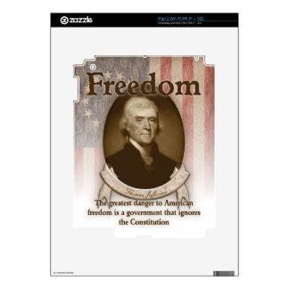 Thomas Jefferson – Freedom Decal For iPad 2