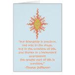 Thomas Jefferson Friendship Quote Card