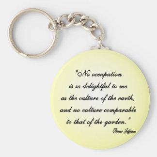Thomas Jefferson Garden Quote Keychain
