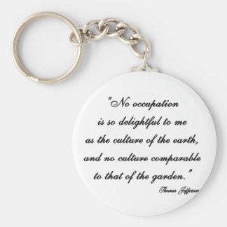 Thomas Jefferson Garden Quote Keychains