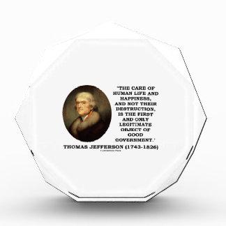 Thomas Jefferson Happiness Object Good Government Award