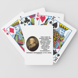 Thomas Jefferson Happiness Object Good Government Bicycle Playing Cards