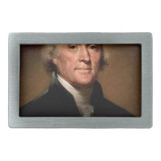 Thomas Jefferson Hebillas Cinturon Rectangulares