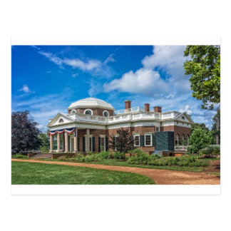 Thomas Jefferson Home at Monticello Postcard