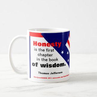"""""""Thomas Jefferson -- Honesty"""" Coffee Mug"""