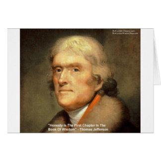 "Thomas Jefferson ""Honesty"" Wisdom Quote Gifts Card"