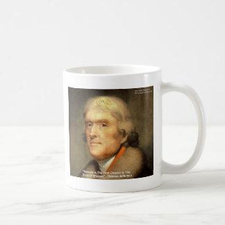 "Thomas Jefferson ""Honesty"" Wisdom Quote Gifts Coffee Mug"