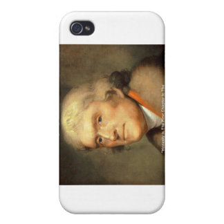 "Thomas Jefferson ""Honesty"" Wisdom Quote Gifts Cover For iPhone 4"