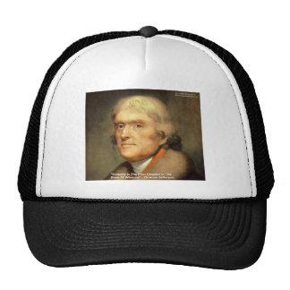 "Thomas Jefferson ""Honesty"" Wisdom Quote Gifts Mesh Hats"