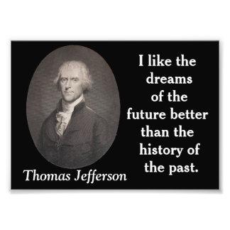 Thomas Jefferson - impresión de la cita Arte Con Fotos