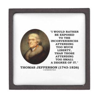 Thomas Jefferson Inconveniences Too Much Liberty Gift Box