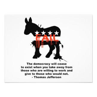 Thomas Jefferson - la democracia cesará al exi Invitación