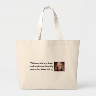 Thomas Jefferson Large Tote Bag