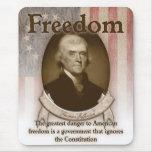 Thomas Jefferson - libertad Alfombrillas De Raton