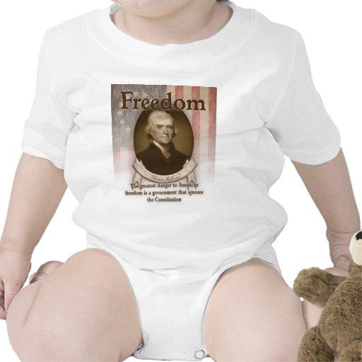 Thomas Jefferson - libertad Camiseta