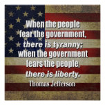 Thomas Jefferson: Libertad contra tiranía Póster