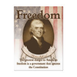 Thomas Jefferson - libertad Lienzo Envuelto Para Galerías