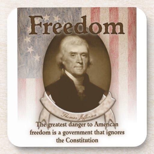 Thomas Jefferson - libertad Posavasos De Bebida