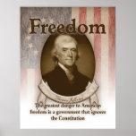 Thomas Jefferson - libertad Poster