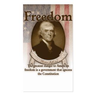 Thomas Jefferson - libertad Plantillas De Tarjeta De Negocio