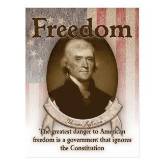 Thomas Jefferson - libertad Tarjetas Postales