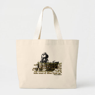 """Thomas Jefferson """"Limits Of Power"""" Quote Large Tote Bag"""