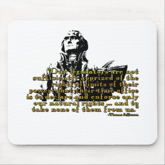 """Thomas Jefferson """"Limits Of Power"""" Quote Mouse Pad"""