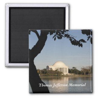 Thomas Jefferson Memorial 2 Inch Square Magnet