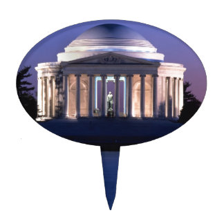 Thomas Jefferson Memorial at Dusk Cake Toppers
