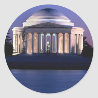 Thomas Jefferson Memorial at Dusk Classic Round Sticker