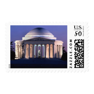 Thomas Jefferson Memorial at Dusk Postage